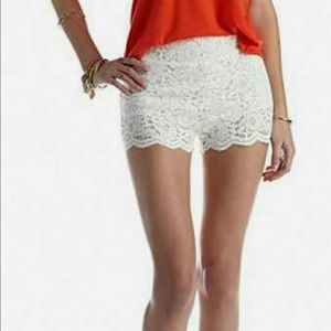 Free People Floral Lace Biker Shorts